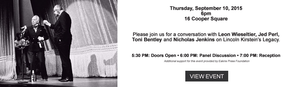 The Center for Ballet and The Arts - New York University - Toni Bentley
